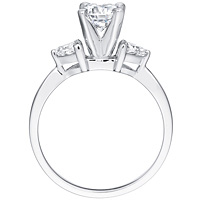 Etania round-cut diamond with trillion-cut diamond accents by Eternity (.30 ctw.)