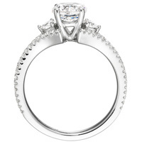 Bette Diamond Solitaire with Diamond Accents and Bezel-Set Diamond Band (.52 ctw.)