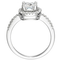 Jasmine Cushion-Cut Diamond with Diamond Frame and Band by Eternity (.24 ctw.)