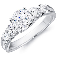 Jillian round-cut diamond ring with four round accent diamonds by Eternity (.52 ctw.)