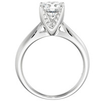 Chelsea Diamond Solitiare with Diamond Accents by Eternity (.12 ctw.)
