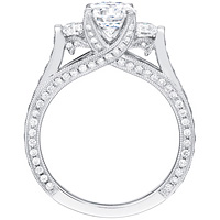 Keira round-cut diamond ring with round diamond accents and diamond band by Eternity (1.14 ctw.)