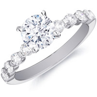 Karine Diamond Ring with Spaced Diamond Band by Eternity (.48 ctw)