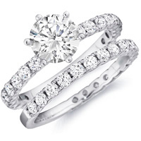 Samantha Diamond Engagement Ring and Matching Band (1.46 ctw.)