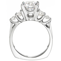 Vivienne Side Stone Diamond Engagement Ring (.61 ctw)