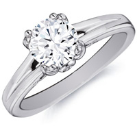 Annelise Diamond Solitaire on Split Band by Eternity (.03 ctw.)