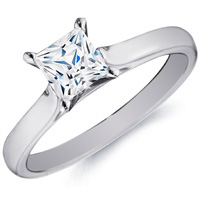 Blanche Princess-Cut Diamond Solitaire by Eternity