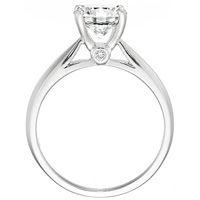 Violet Diamond Solitaire with Angled Band by Eternity (.05 ctw.)
