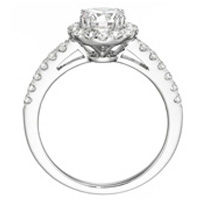Anya Halo Setting with Diamond Band Shank (.50 ctw.)