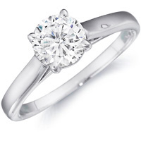 Ava Solitaire Diamond Engagement Ring by Eternity