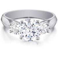 Raquel Triple-Diamond Ring with Angled Band by Eternity