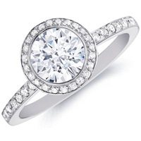 Evangeline Round Bezel Set Diamond by Eternity