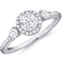 Zora diamond ring with diamond accents and diamond studded band by Eternity (.40 ctw.)