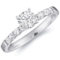 Mirabelle Diamond Prong Set Engagement Ring (.50 ctw.)