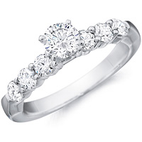 Althea round-cut diamond ring with six round-cut diamond accents by Eternity (.61 ctw.)