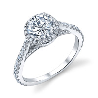 Sarah Diamond Halo Ring (.60 ctw.)
