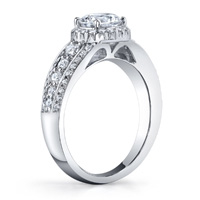 Belle Pave Diamond Halo Ring (.70 ctw.)