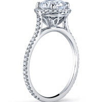 Petite Cathedral Diamond Halo Ring