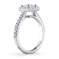 Kelly Diamond Princess Cut Halo Ring (.51 ctw.)
