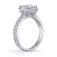 Marlene Princess Cut Halo Ring With Split Shank (.79 ctw.)