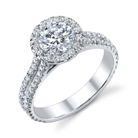 Celia Micro Pave Diamond Halo Ring (.43 ctw.)