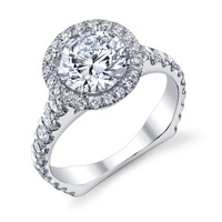 Anna Diamond Halo Ring With European Shank (.84 ctw.)