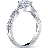 Crossover Diamond Pave Ring