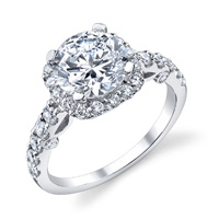 Sandra Diamond Halo Ring (.78 ctw.)