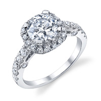 Monica Diamond Halo Ring With Surprise Stones (.74 ctw.)
