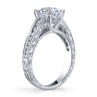 Harlow Channel Set Cathedral Diamond Ring (.20 ctw.)
