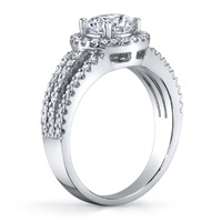 Sidney Pave Diamond Halo Ring (.46 ctw.)