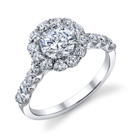 Eugenie Diamond Halo Ring (.72 ctw.)