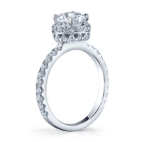Emma Diamond Halo Ring With Studded Crown (.55 ctw.)