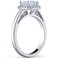 cushion halo ring with plain band engagement rings