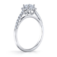 Vera Diamond Halo Ring